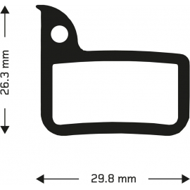 Organic disc brake pads for Sram Red callipers