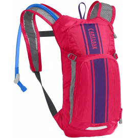 CAMELBAK KIDS' MINI MULE HYDRATION PACK 2020: HOT PINK/PURPLE STRIPE 1.5L/50OZ