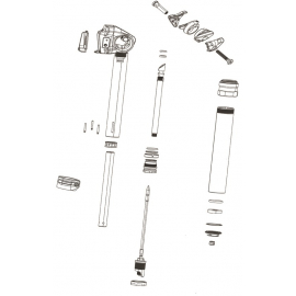 ROCKSHOX SPARE - SEATPOST SPARE PARTS REVERB STEALTH MAIN PISTON/POPPET KIT 430X150MM: