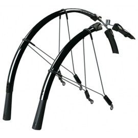 RACEBLADE LONG MUDGUARD SET: BLACK